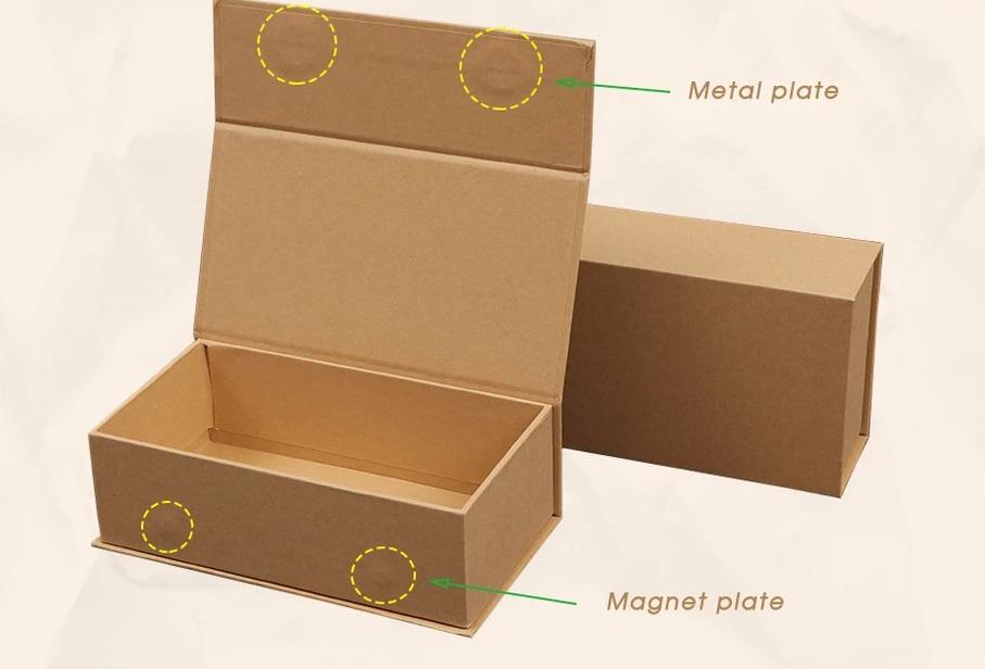 Custom Kraft cardboard rigid magnetic cl